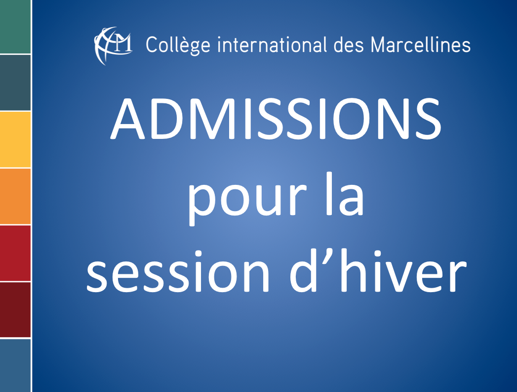 Admissions hiver 2016
