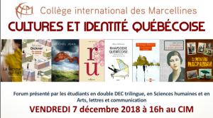 Forum Cultures et identité québécoise 2018