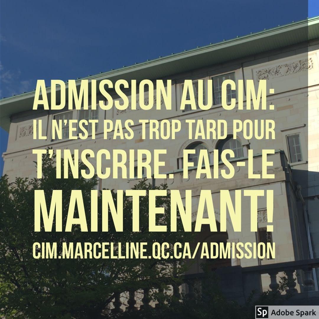 Demande d'admission au CIM…