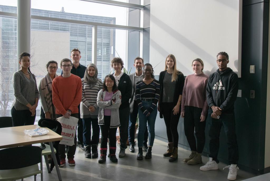 Les futurs stagiaires du CIM et leurs mentors et professeurs.